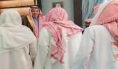"""أمير """" الباحة """" ينقل تعازي القيادة لذوي الشهيد """" الزهراني """""""