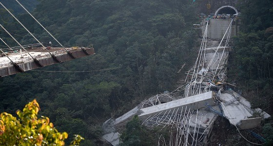 قتلى وجرحى جراء سقوط جسر تحت الإنشاء فى كولومبيا
