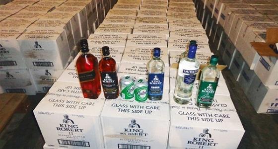 جمرك جسر الملك فهد يُحبط محاولة تهريب 8 آلاف زجاجة خمر