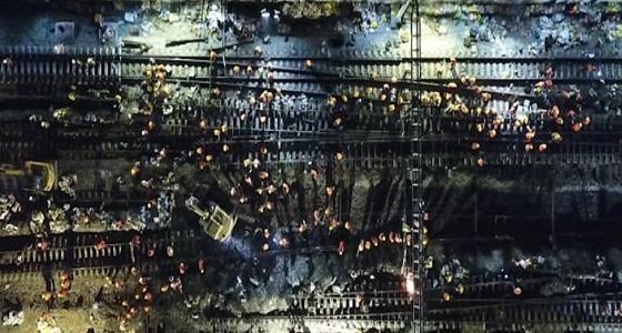 الانتهاء من إنشاء محطة قطار صينية في 9 ساعات