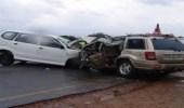 وفاة وإصابتين في اصطدام 3 مركبات بالطائف