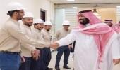 وزير البيئة يشكر ولي العهد على زيارة محطات التحلية