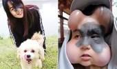 بالصور.. فتاة تزرع 4 بالونات في وجهها والسبب غريب