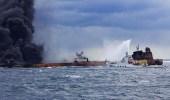 تكون بقعتي زيت في بحر الصين نتيجة غرق ناقلة النفط الإيرانية