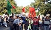 تظاهرة في نيودلهي احتجاجًا على زيارة نتنياهو