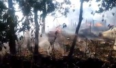 بالفيديو.. احتراق 5 منازل لمسلمي الروهنجيا بأيدي البوذيين