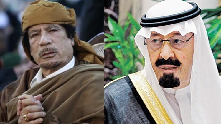"""رسالة """" القذافي """" الأخيرة للسعودية تكشف سر محاولة اغتيال الملك عبدالله"""
