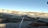 بالفيديو.. تجمد المياه فور خروجها من الصنبور بسبب البرودة المرتفعة في بلقرن