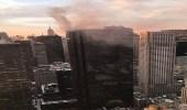 بالفيديو.. اندلاع حريق في برج ترامب بنيويورك