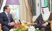 خادم الحرمين الشريفين يستقبل سعد الحريري في قصر اليمامة