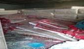 بالصور.. ضبط وإغلاق مصنع مفروشات مخالف بمكة