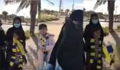 بالفيديو.. مواطنة هلالية تشجع فريقها من مدرجات النصر