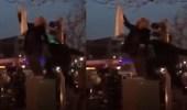 بالفيديو.. غضب وانتقادات واسعة بعد اعتداء شرطي على إيرانية