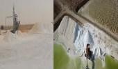 بالفيديو.. استخراج الملح في مدينة القصب