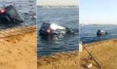 حقيقة واقعة غرق فتاة تقود مركبة على كورنيش جدة