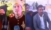 بالفيديو.. مراسل يجري تغطية لحفل زفافه ويحاور العروس وعائلتها