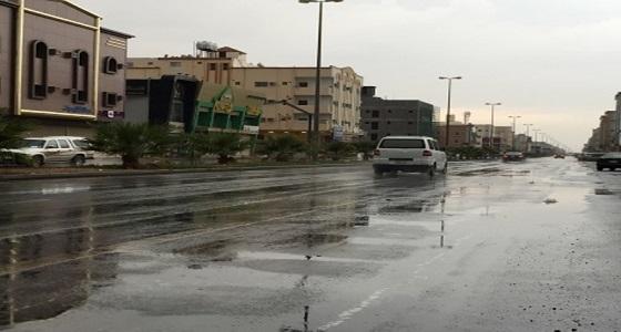 هطول أمطار على تبوك ومحافظة ضباء