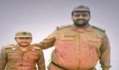 بالصور.. تشيع جثمان أطول رجل أمن في بيشة