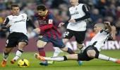 انتصار برشلونة على فالنسيا بصعوبة في ذهاب نصف نهائي كأس الملك