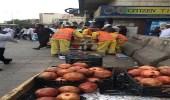 بالصور.. ضبط 29 عاملًا يمارسون البيع الجائل بأحياء متفرقة