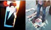 بالفيديو.. أحوازيون يحرقون صورة للخميني بالصالحية