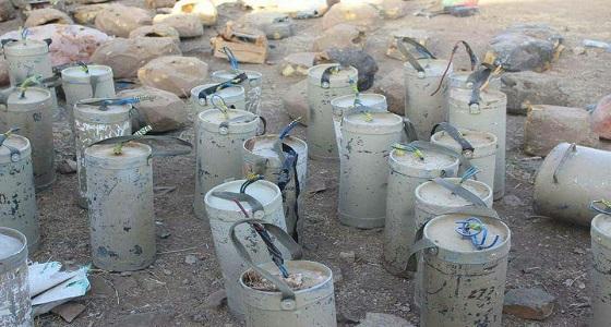 بالصور.. الجيش اليمني ينتزع 3000 لغمًا وعبوة ناسفة بصعدة