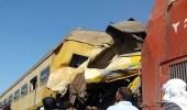 بالصور.. مقتل وإصابة العشرات بحادث تصادم قطارين في مصر