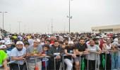 بالصور.. الاستعداد لانطلاق سباق الهواة بمارثون الرياض