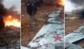 بالفيديو.. إسقاط مقاتلة روسية بسوريا ومقتل الطيار