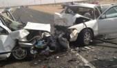 وفاة رضيع سقط فوق جسر بحادث تصادم 15 سيارة