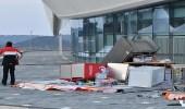 بالصور.. فوضى شديدة في أولمبياد الشتاء بسبب الرياح