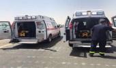 9 إصابات من عائلة واحدة إثر وقوع حادث تصادم بتثليث
