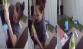 بالفيديو.. مربية تعذب طفل رضيع وتضربه بهستيريا