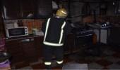 """"""" مدني تبوك """" يخمد حريقًا في مطبخ منزل بحي القادسية"""