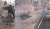 مواطن يوثق أخطاء كارثية تقوم بها عمالة أثناء البناء