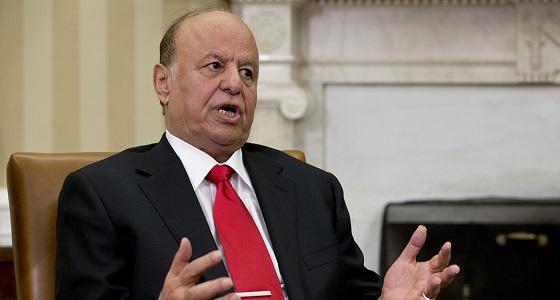 عبدربه منصور: الحوثيون والقاعدة دمرا اليمن والمنطقة