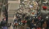 بالصور.. إصابة 12 شخصًا إثر انهيار عقار قديم بالقاهرة