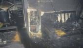 إصابة وحالة اختناق إثر اندلاع حريق بمطبخ في الطائف