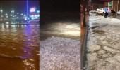 بالصور..أمطار مصحوبة بحبات البرد على 3 مناطق