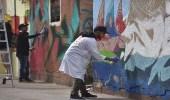 """بالصور.. مبادرة """" الفن شرقي """" لتجميل المنازل الشعبية في الخبر"""