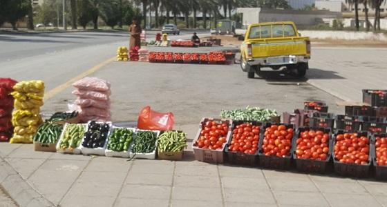 بلدية الشميسي تنفذ حملات على أماكن تواجد الباعة الجائلين