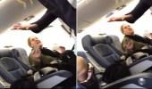 بالفيديو.. طرد راكبة من الطائرة بسبب عصبيتها