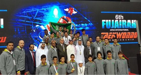المنتخب السعودي للتايكوندو يحصد 9 ميداليات في بطولة الفجيرة