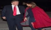 بالفيديو والصور.. الرئيس ترامب في موقف محرج للغاية بسبب زوجته