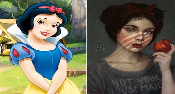 بالصور.. فنانة تعيد رسم الشخصيات الكرتون الشهيرة بأسلوب واقعي