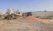 إزالة تعدي بمساحة 350 ألف متر بمنطقة العوينة
