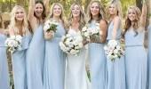 عارضات الأزياء العالميات يتألقن باللون الأزرق الترابي