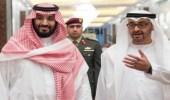 بالصور.. الأمير محمد بن سلمان مع ولي عهد أبوظبي يسيران متشابكا الأيدي