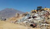 بالصور.. إزالة إحداثات في أراضي حكومية ببلدية المجاردة