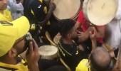 """بالفيديو.. جماهير الاتحاد  تردد أغنية لـ """" أم كلثوم """" قبل مباراتهم مع الأهلي"""